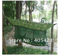 Free Shipping Outdoor Hammock Army Outdoor Camping Hammock Tent Bed Mosquito Nets Outdoor Leisure Siesta Bed