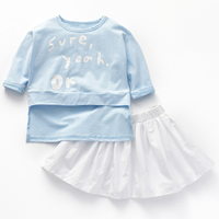 2018 Fashion Spring Boutique Outfits Letter Baby Clothes Girls Sets Cute Long Sleeve Tops Bow Tutu