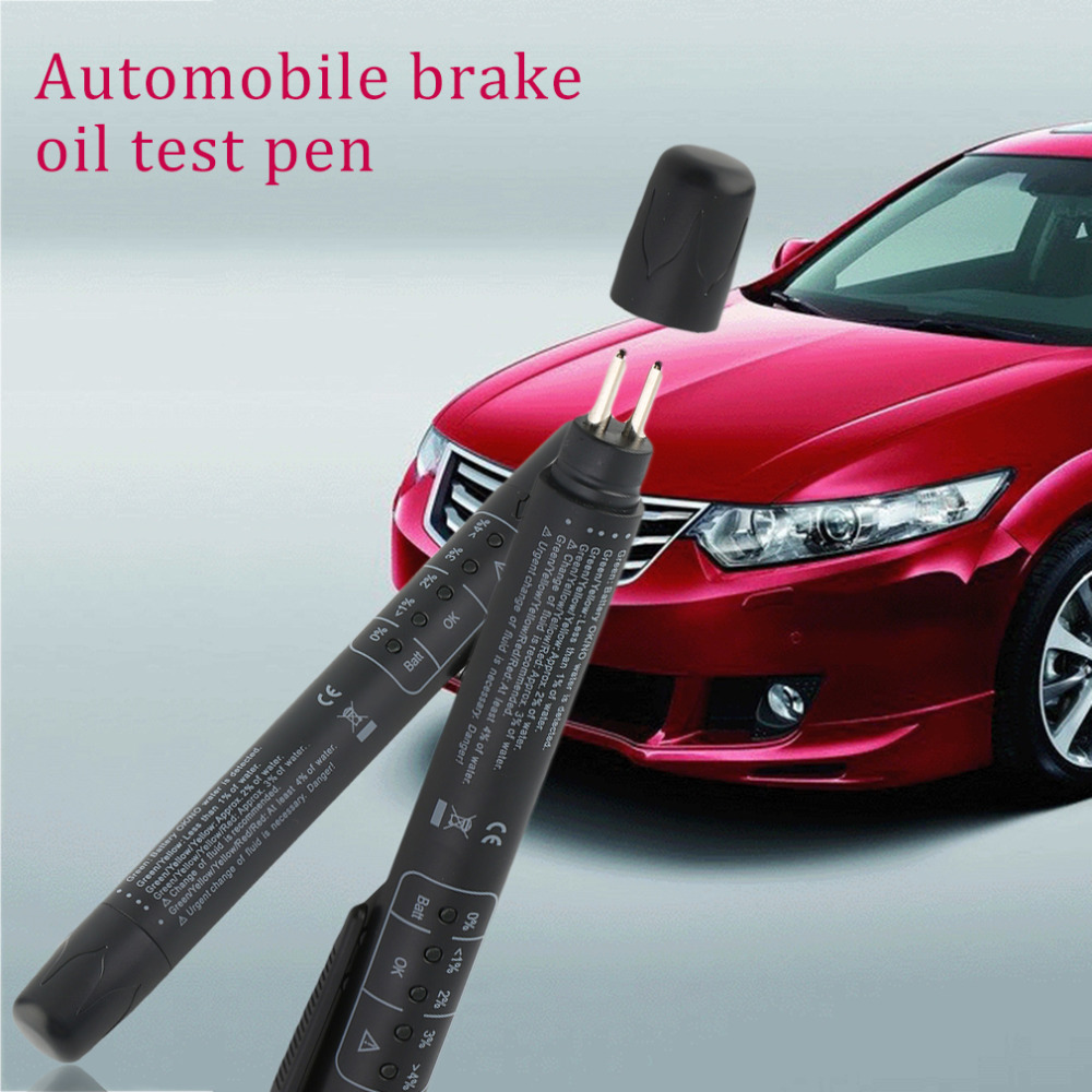 new1PCS Brake Fluid Tester Pen 5 LED Car Vehicle Auto Automotive Testing Tool Ca