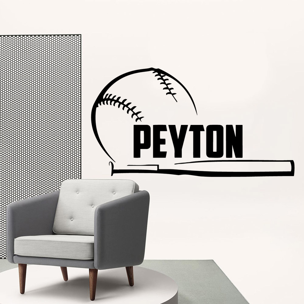 Wall Vinyl baseball Vinyl Decals Wall Stickers For Living Room Kids Room Waterproof Wall Art Decal Wall Decor adesivo de parede in Wall Stickers from Home Garden