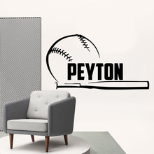 Wall Vinyl baseball Vinyl Decals Wall Stickers For Living Room Kids Room Waterproof Wall Art Decal Wall Decor adesivo de parede 3d plane family wall stickers mural art home decor vinyl stickers wall decals kids room decor living room adesivo de parede