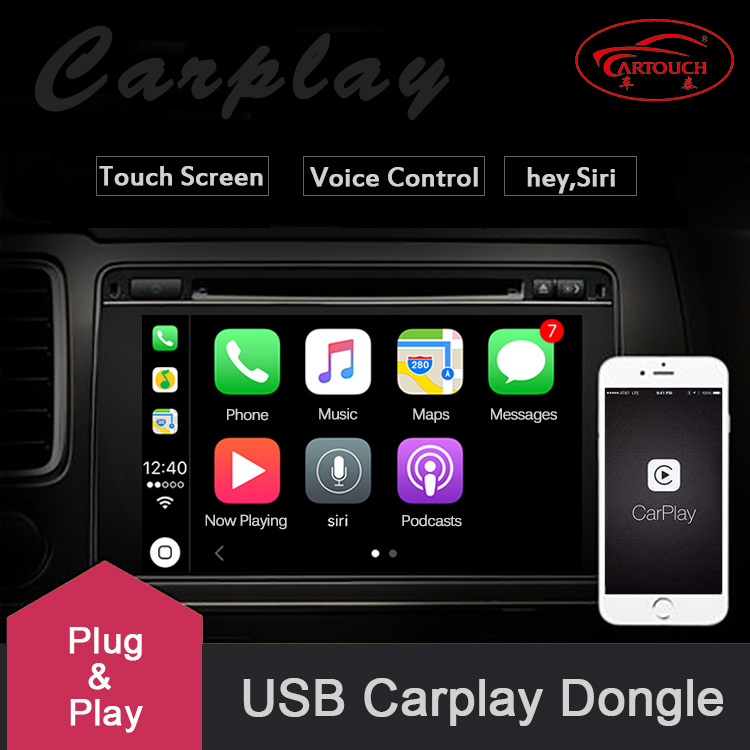 Usb Smart Link Le Carplay Dongle For Android Navigation Player Mini Stick With Auto