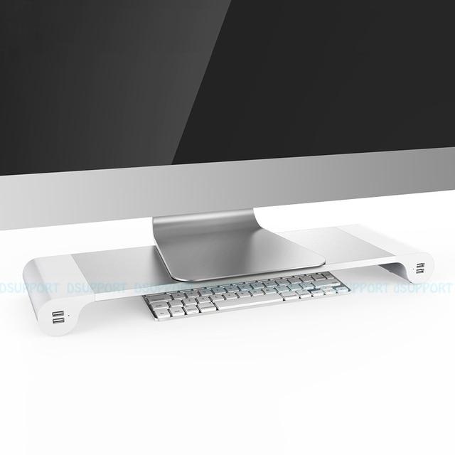 Aluminum Alloy Desktop Monitor Stand Space Bar Non Slip Laptop Stand