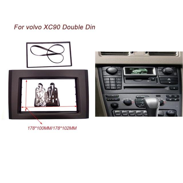 Doble 2 DIN Car Radio Fascia para Volvo XC90 Estéreo Interfaz CD Dash Recorte Kit de Instalación de Radio Panel