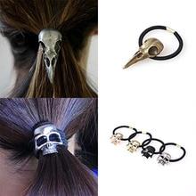 European and American punk personalized hair accessories three-dimensional metal geometric shape headband ring
