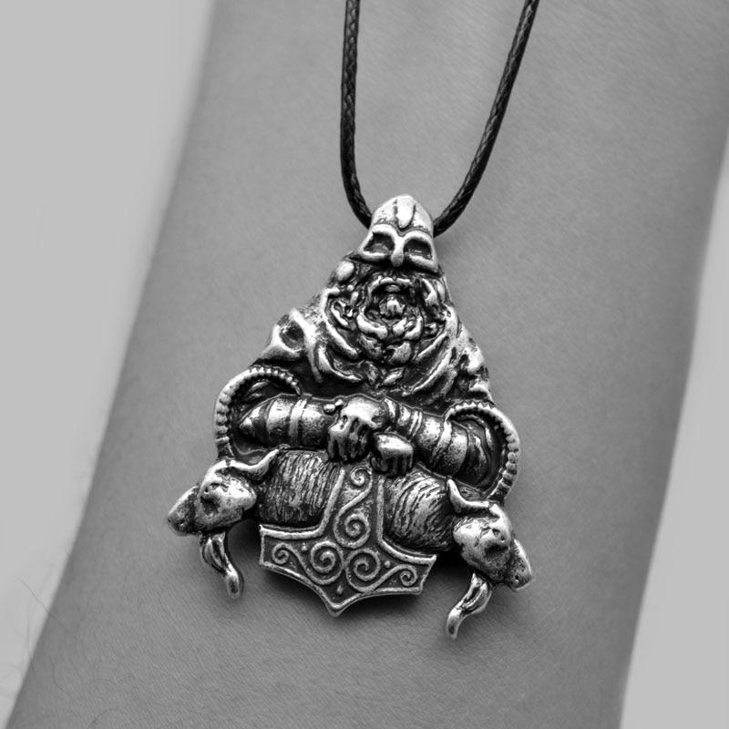 1pcs Double Side Viking Warrior Pendant Medieval Viking Figure Necklace For Men Talisman Amulet Necklace CT651