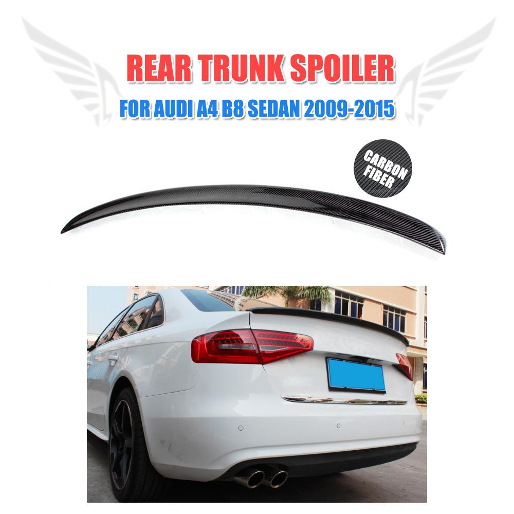 Carbon Fiber Rear Wing Spoiler Fit For Audi A4 B8 B9 Non-Sline 2009-2015 Trunk Boot Spoiler Car Styling Tuning Parts