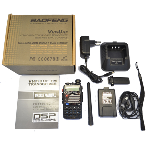 Baofeng UV-5RA+ PLUS Walkie Talkie Dual Band Cb Handy Hunting Radio Receiver With Headfone UHF 400-470MHz VHF136-174MHz
