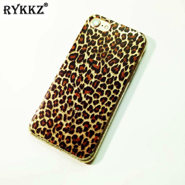 3D Reliefs Sexy Leopard Print Case for iPhone 7 8 8 Plus Capa Coque Etui  Funda For iPhone 6 6s Plus Soft TPU Cover f7ba453ee601