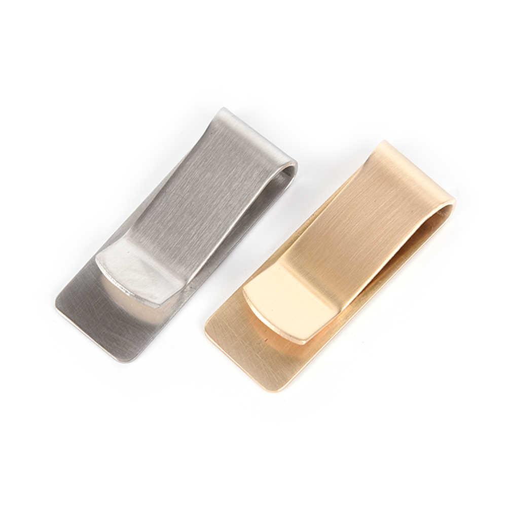 Alta calidad 1 Uds. De acero inoxidable Metal Clip de dinero moda simple dorado plateado dólar efectivo pinza titular cartera para hombres