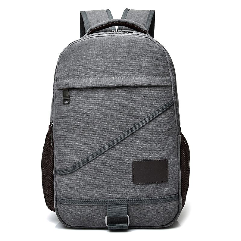 DIDA BEAR New Women Men Canvas Backpacks Large School Bags For Teenagers Boys Girls Travel Laptop Backbag Mochila Rucksack Grey dida bear fashion canvas backpacks large school bags for girls boys teenagers laptop bags travel rucksack mochila gray women men