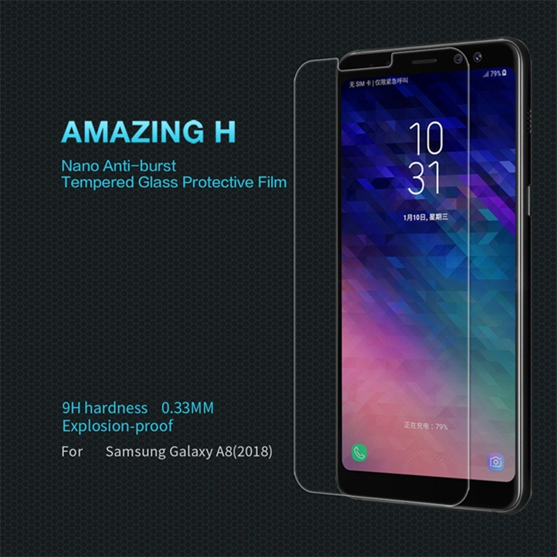 Nillkin H Tempered Glass For Samsung Galaxy A8 2018 Screen Protector for Samsung A5 2018 A530F Dual Sim Protective Film