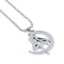 Kisstyle Fashion Anime Accessaries Sailor Moon Tsukino Usagi Moon Stick Cosplay Pendant Necklace T1527 P50