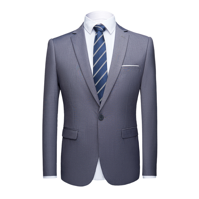 Boutique 3 Pieces Suit Sets / Male Solid Color Blazer Jacket Coat Vest Pants Trousers Waistcoat 2