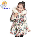 S-176 Hooded Girls Ultra Long Wadded Winter Jacket Long Sleeve Coat Thick Children Down Clothes Parkas Outwear for Girl Kids
