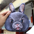 2016 mini Coin Purses Wallet Ladies 3D Printing animal coin purse Big Face Change Fashion Small Zipper Bag Women kawaii handbag