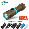 Scuba Powerful Diver diving flashlight led CREE XM-L2 100M underwater torch light 18650 OR 26650 rechargeable batteries
