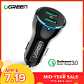 Ugreen 36W USB Car Charger Dual Quick 3.0 Charge for iPhone Xiaomi Huawei USB Fast Charger for Samsung S9 S8 Car Phone Charger