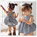 Verão de Moda de Nova Roupa Do Bebê 2 pcs Set Algodão Vestido Tutu Recém-Nascido Jogo Do Presente Do Aniversário Do Bebê Bebe Menina Treino Bebê Outfit