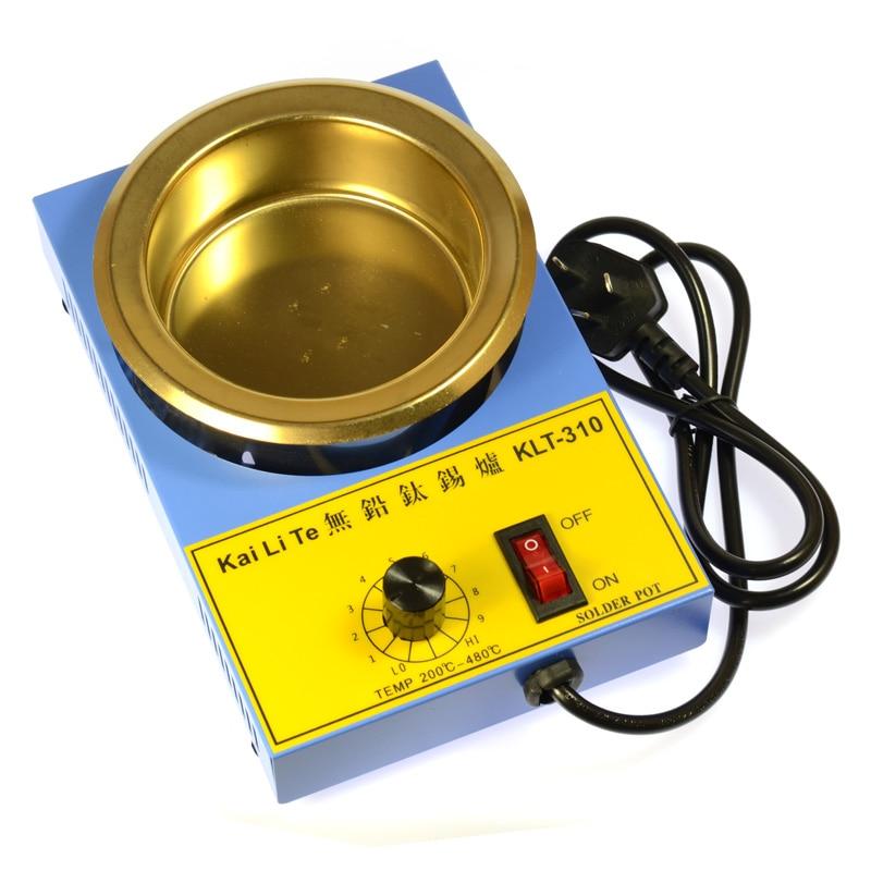 300W KLT310 Temperature Control Solder Pot Titanium Pot Free Soldering AC110V AC220V 100mm  Celsius Electric Soldering Irons