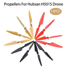 TOMLOV 12Pcs Plastic ABS Props Blades Propellers CW / CCW Self-Locking For Hubsan H501S RC Drone Spare Parts Black&Red&Golden 2017 new arrival hubsan h501s x4 propeller rc quadcopter spare parts cw ccw propellers 2pcs