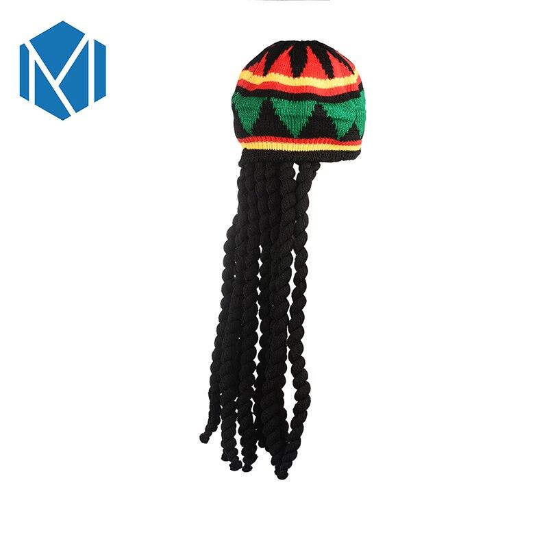 Miya Mona 2018 novedad Jamaica Rasta Knit sombrero Casual ganchillo ...