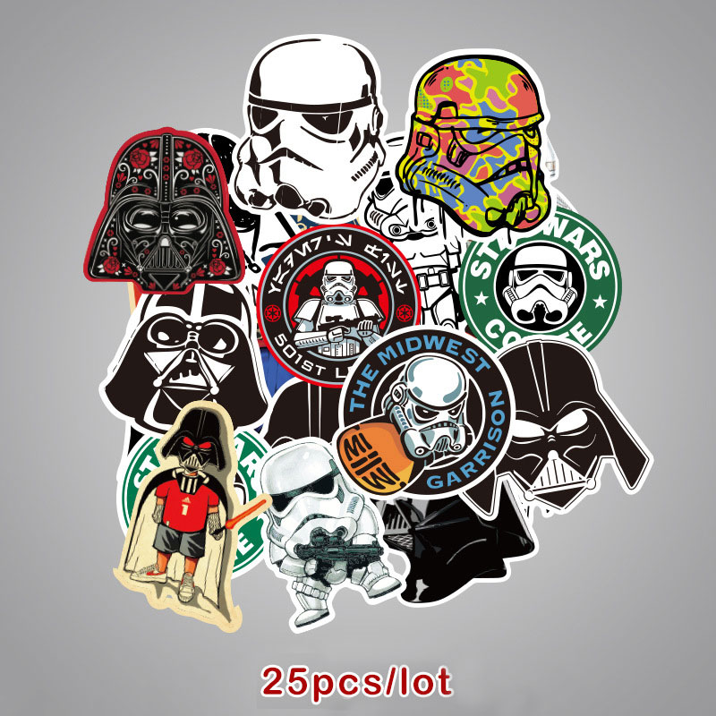 Aufkleber Sticker Darth Vader Star Wars Comics Cartoon sticker