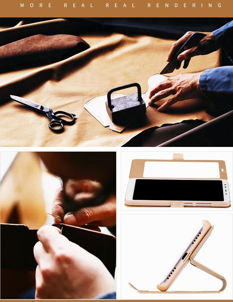 Smart window hard flip leather case for xiaomi redmi 5 plus 5a note 5 5a pro 6 6a 6 pro 10