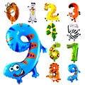 10 Шт. Количество Животных Фольги Надувные Шары Свадьба С Днем Рождения Воздушные Шары Воздушный Шар Подарки для детей Надувные Игрушки