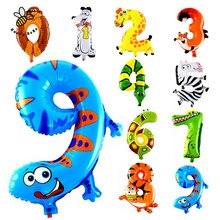 1 ks balónová číslice se zvířátkem, vhodné na narozeninovou oslavu