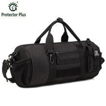 Men's Brand Travel Shoulder Messenger Bag Men 1000D Nylon Bucket Cylinder Outdoors Bag Army Travel Hike Camp Shoulder Bag