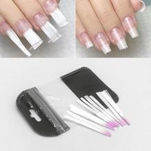 Purple Head Fiber Nail Glass for Extension Acrylic Tip Salon Tool