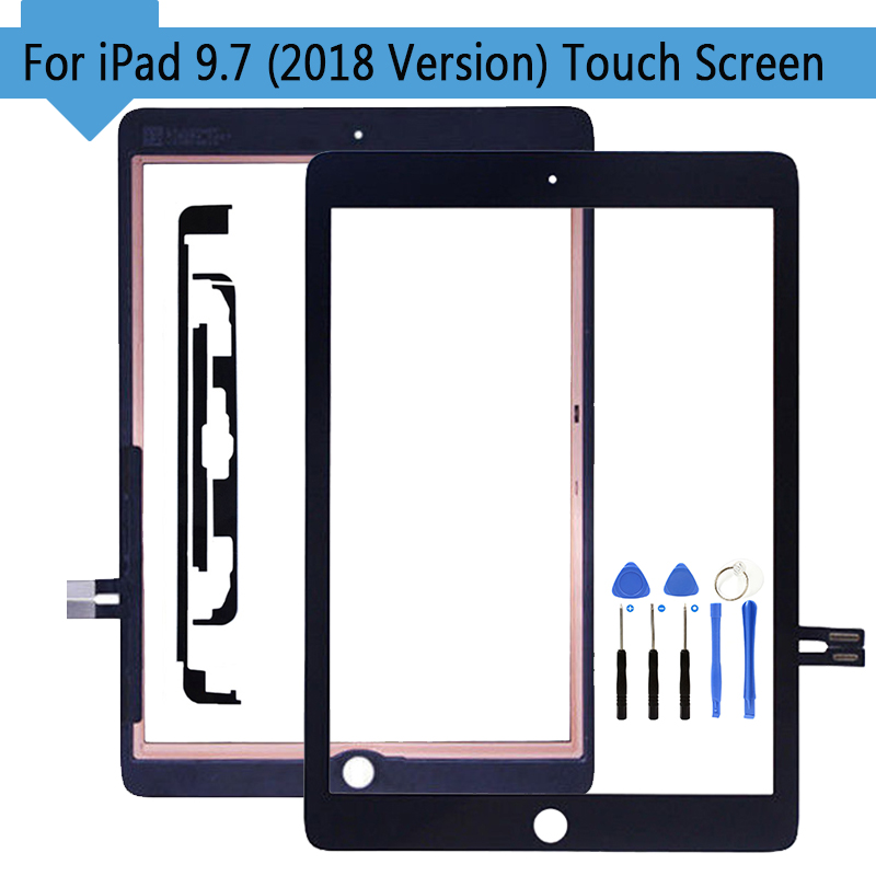 Tablet Touch Planel For IPad 9.7 (2018 Version) For IPad 6 6th Gen A1893 A1954 Touch Screen Digitizer With Home Button Replace
