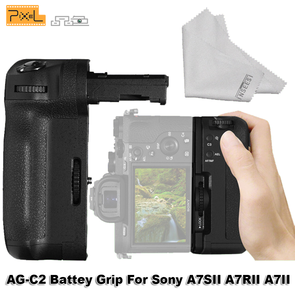 Profession Grip For <font><b>Sony</b></font> A7SII/A7RII/<font><b>A7II</b></font> <font><b>Cameras</b></font> Pixel AG-C2 Wireless Control Battery Grip Compatible of NP-FW50 Battery image