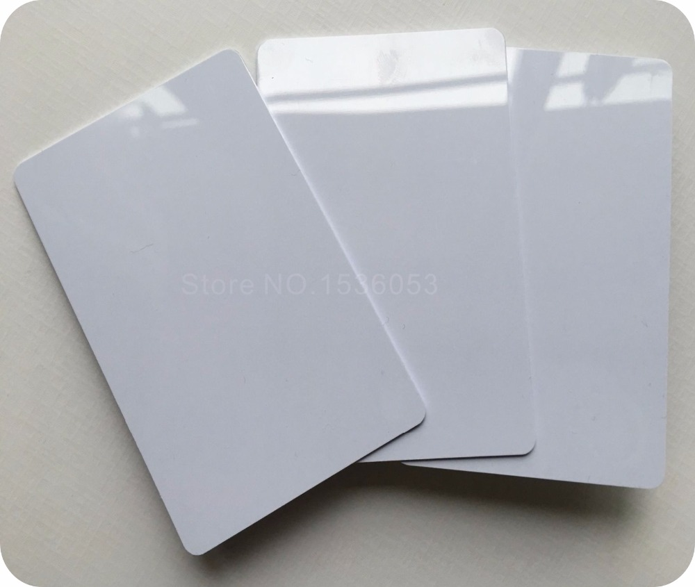 10pcs The Best PVC PLASTIC Blank ID Card Credit Card Thin CR80 Available For Card Printer(China)