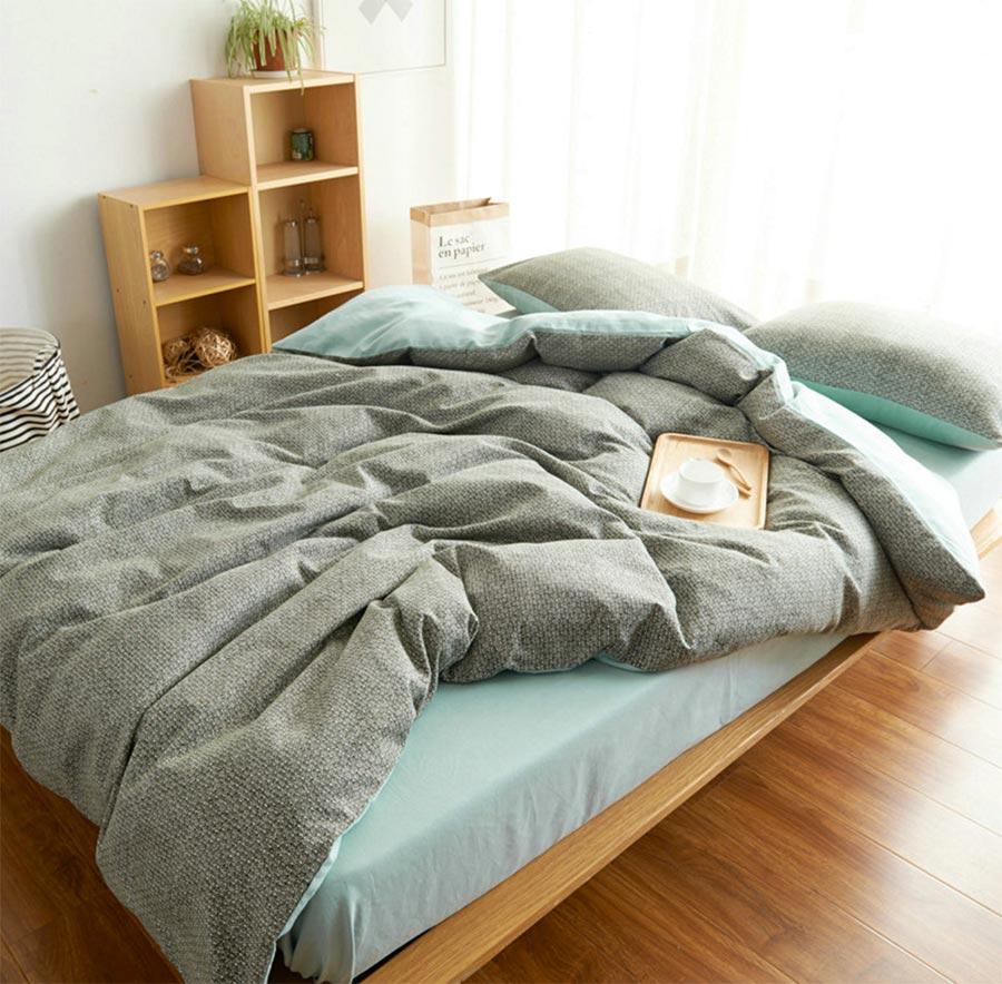 Laminated Fabric Sky Bedsheet Also Green Modern Carpet Plus Brown Wood