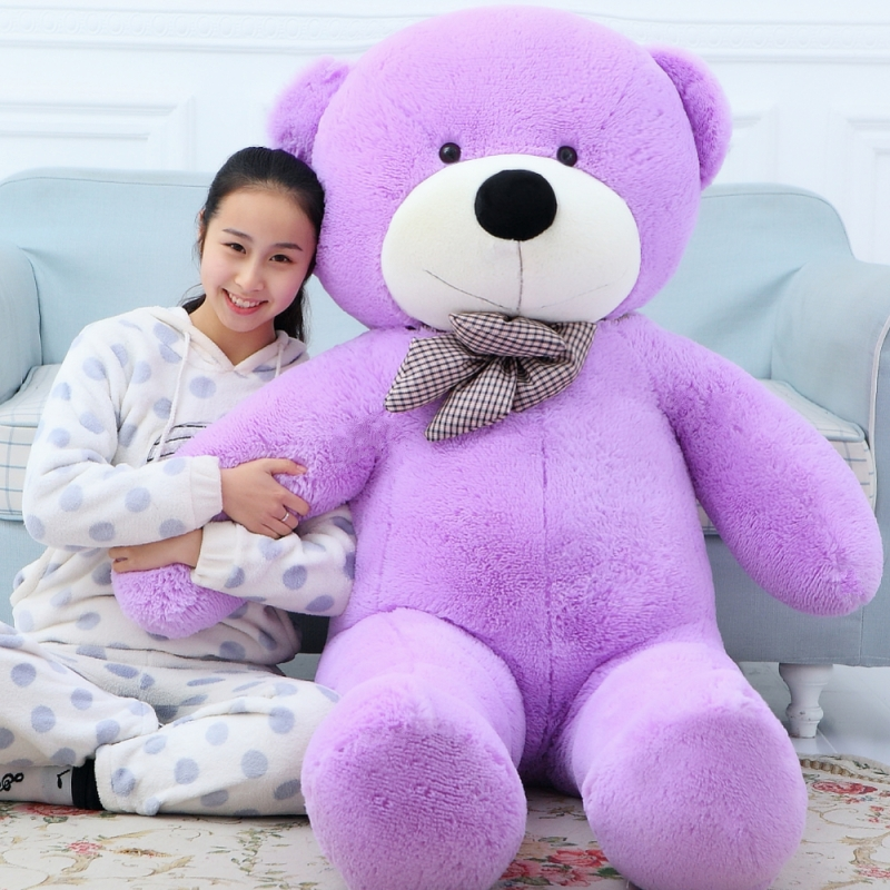 180cm/1.8m Giant Teddy Bear Life Size Purple Large Plush Stuffed Toys  Animal Kid Baby Dolls Birthday Valentine Gift For Girls In Stuffed U0026 Plush  Animals ...