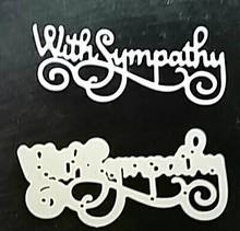 with Sympathy Words Dies Metal Cutting Stencil for DIY Scrapbooking album Decorative Embossing Craft Paper Cards Tool