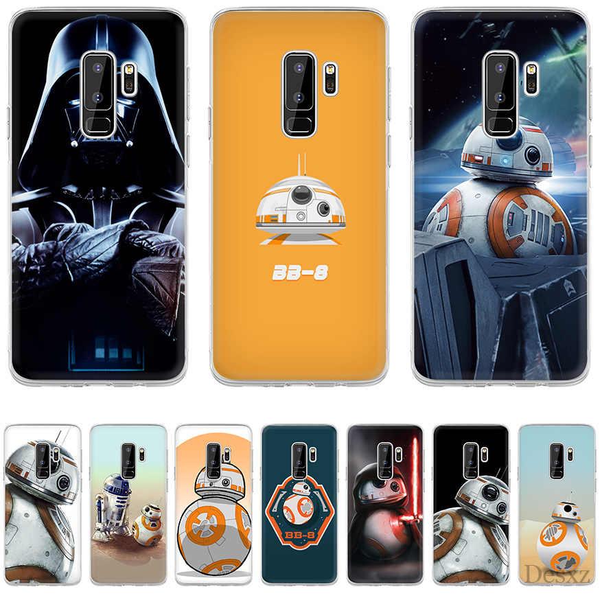 Tampa Do caso para Samsung A10 A20 A30 A40 A50 A60 A70 A9 A7 A5 A6 A8 Além de star wars YODA e bb8 Estilo Colorido rígido pc