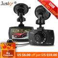 Jusky Hot Selling G30B Car DVR Video Recorder Car Camera Full HD 1080P Dual Lens External Rear Camera IR Night Vision Vehicle