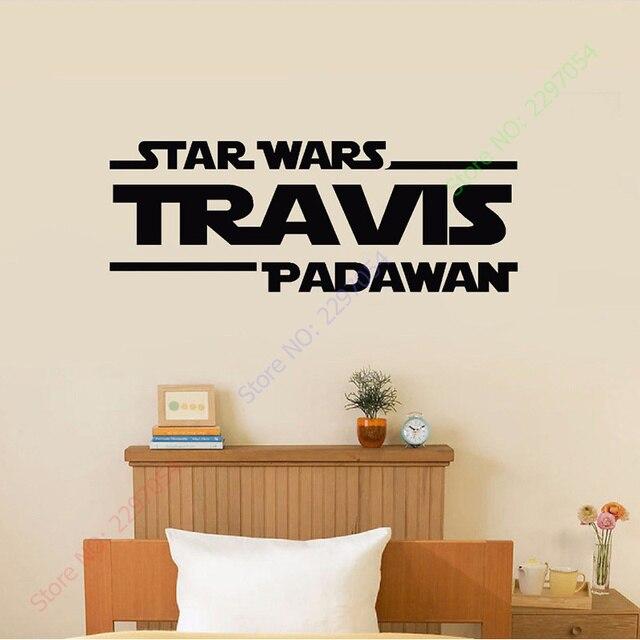 Aliexpress.com : Buy Personalized Name Star Wars Wall Sticker Decal ...