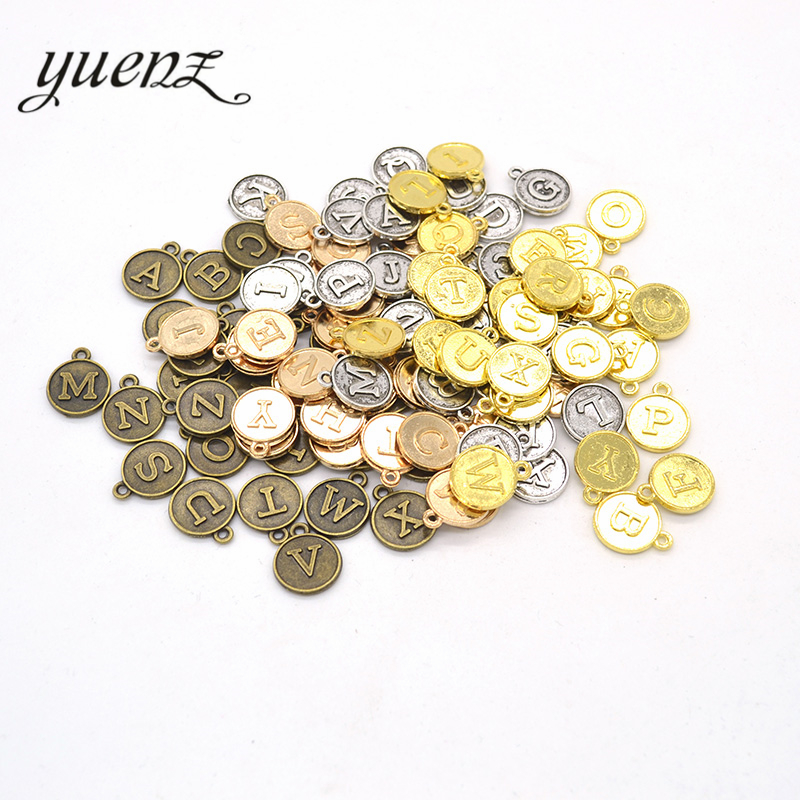 YuenZ  2set 5 colors vintage letter charms mix,26 alphabet charms for bracelets,alphabet letter charms fit Jewelry making  S205