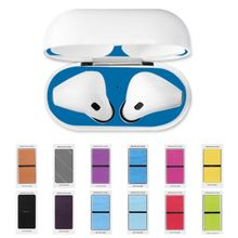 2Pairs Dust Guard Protective Sticker Earphone Case Shell Skin Dust-proof for Apple Airpods Charging Box