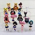 16pcs/set Anime Sailor Moon Figures Tsukino Usagi Sailor Moon Mars Jupiter Venus Mercury PVC Action Figure Model Toys With Box