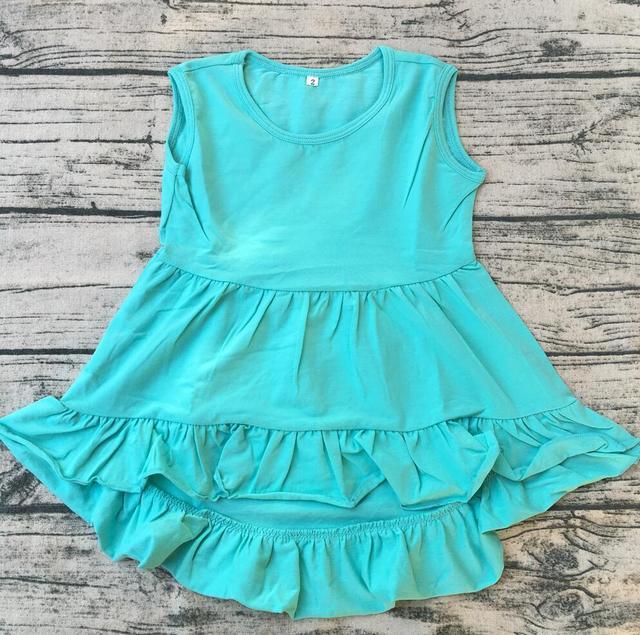 720a144ad Fancy Baby Girls Sleeveless Dress Blouse Party Wear cute hi-low Modal  Cotton Frock Kids Girls dress
