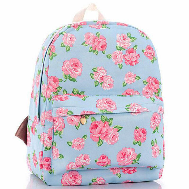 2017 New Printing backpacks Rose floral Cute school bags for women/ teenage girls rucksack laptop Canvas backpack female D10-47 tourit 2016 new canvas printing backpack women school bags for teenage girls cute bookbags vintage laptop backpacks female