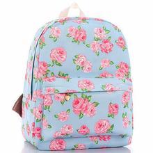 2017 neue Druck rucksäcke Rose floral Nette schultaschen für frauen/teenager mädchen rucksack laptop Leinwand rucksack weiblichen D10-47
