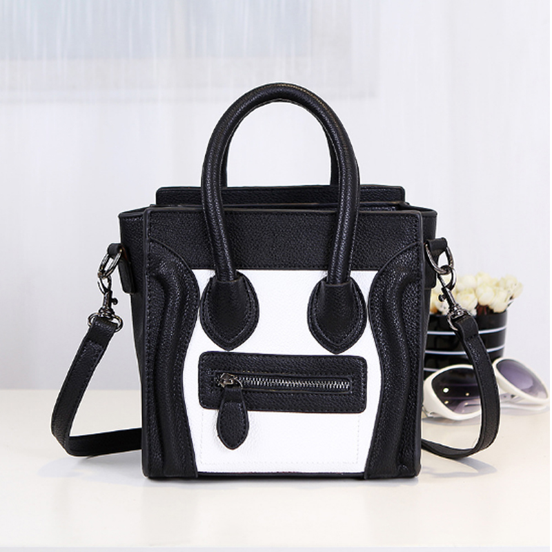 ФОТО Famous Brands Smile Bag Ladies Hand Bag Shoulder Handbags High Quality Candy Color  Women Bags Designer Smiley Tote