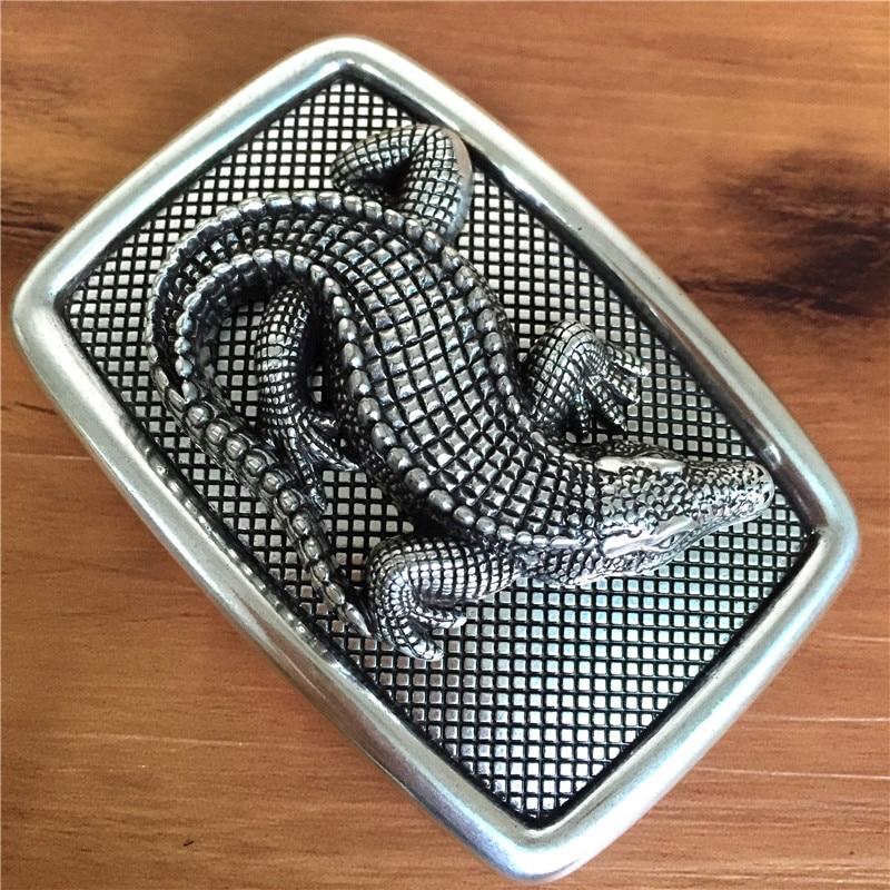 TOP Quality 3D Crocodile Belt Buckle Luxury Cowboy Jeans Belt High Quality Cowboy Jeans Men Belt Buckle AK0103