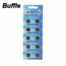 10x Buffle AG12 Button Cell Battery LR43 AG12 SR43 260 386 1.5V Alkaline Watch Coin Batteries стоимость
